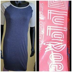📚 Lularoe Julia Blue w/ Gray Sleeves NEW W/ TAGS